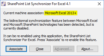 Synchronizer for Excel and SharePoint